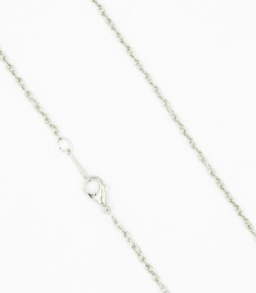 Ready made rope chain - rhodium 16 inches